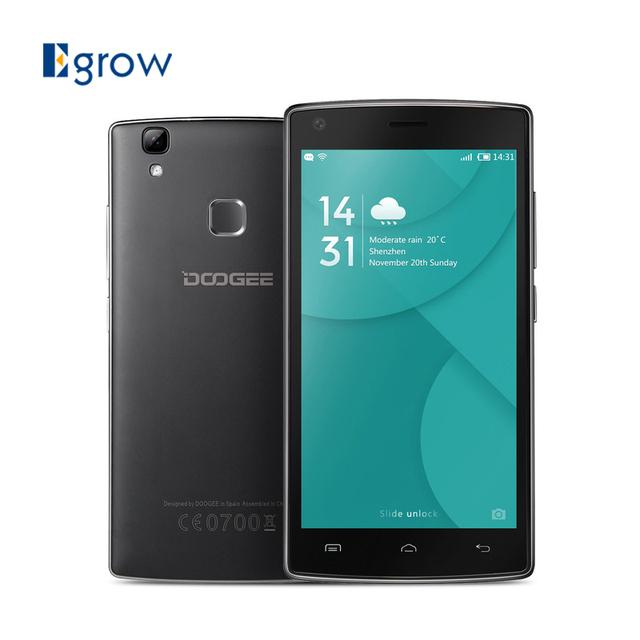 Original DOOGEE X5 MAX Pro Смартфон Dual SIM 5.0 Дюймов MTK6737 Quad Core Мобильный Телефон 2 ГБ RAM 16 ГБ ROM Отпечатков Пальцев 4 Г Мобильный Телефон