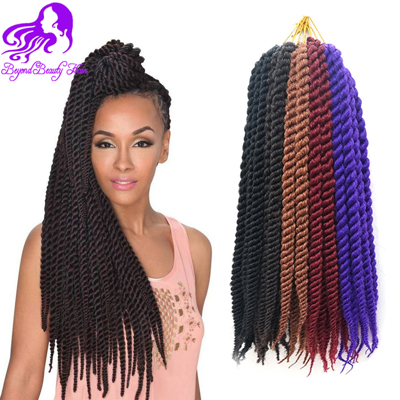 Crochet Hair Pieces : Braiding Hair 12&18inch Havana Mambo Crochet Braids Hair Extensions ...
