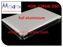 13.3inch Aluminium laptop notebook computer 4GB ram and 128GB SSD celeron 2957U WIFI bluetooth backlit keyboard ultrabook laptop(China (Mainland))