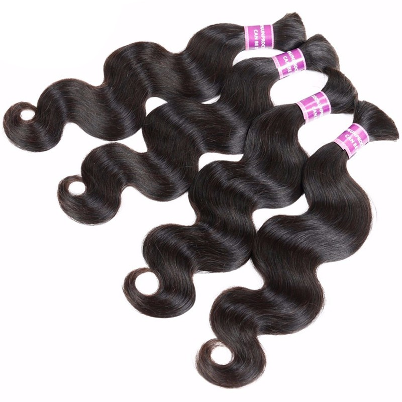 Best 9A Body Wave Hair Bulk 1Pcs Bundles Human Brazilian Virgin Bulk Hair Braiding Hair No Weft 100g 10-30″ Human Hair Extension