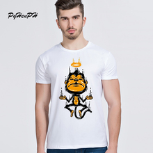 Buy New Arrival Mens T Shirts Funny Angel Monkey Design T-shirt Short Sleeve Men's Tops Customize Printed Novelty Tshirt Man Tees for $8.42 in AliExpress store