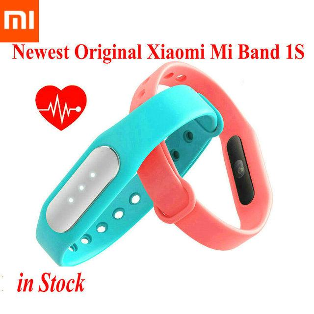 Оригинальный Xiaomi Mi группа 1 S монитор сердечного ритма bluetooth-смарт браслет Miband браслет для Android 4.4 iOS 7.0 шагомер фитнес трекер
