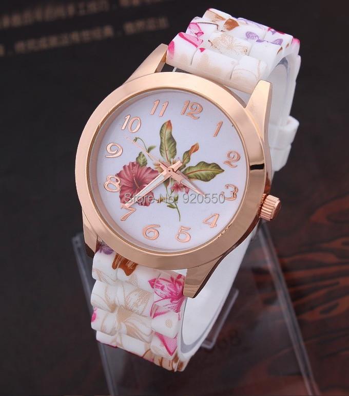 2015 new Women's Flowers Watches Casual Silicone Ladies Quartz Wristwatches - Fashion Boutique-No.1 store