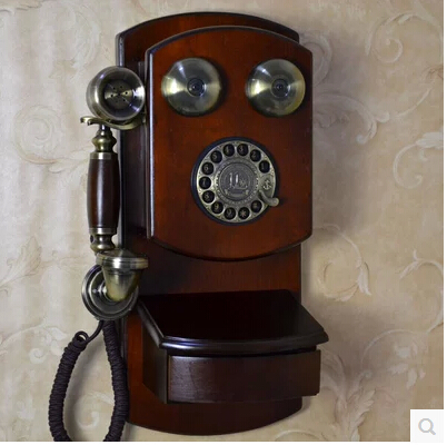 High quality,45*20cm,archaistic unique,Wall mounted antique telephone metal rotary dial mechanical.fantastic home decor(China (Mainland))