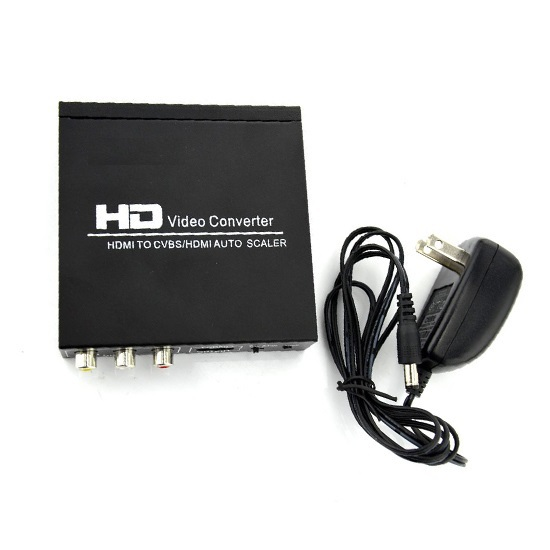 Full 1080P HDMI to HDMI CVBS L/R Scaler Converter Supporting HDCP HDMI 1.3 NTSC PAL TV Format For PS3 XBOX360 Free shipping(China (Mainland))