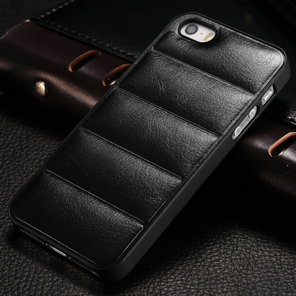 Vintage Hard Case For Apple iPhone 5 5g 5s PU Leather Back Plastic Frame Mobile Phone Back Cover Black Brown White Drop Ship(China (Mainland))