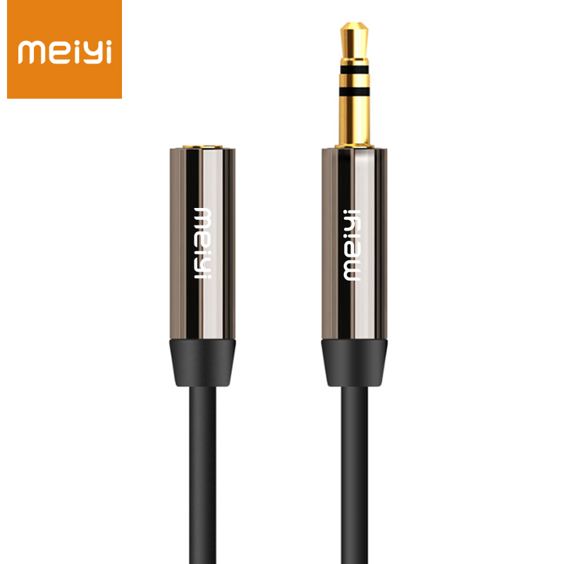 MEIYI 3.5 mm Jack Aux Audio Cable Male to Female Aux Extension Cable Gold Plated Auxiliary Cable for Car / Phone / Media Players(China (Mainland))