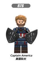 """Legoing Фигурки Мстителей super Heroes танос видения Капитан Америка Kraglin """"Звездный ястреб"""" строительные блоки фигурки, игрушки для детей(China)"""