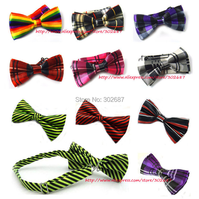 Mens Adjustable Striped Plaid Bow Tie Pre Tied Neck Bowtie Bow Tie Men Fashion Accessories Free Shipping 300 pcs