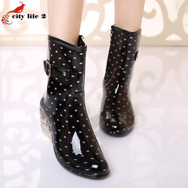 Леопард Клин Дамская Обувь Дождь Сапоги Непромокаемую Обувь Для Женщин Плюс Размер 40 Цветочный Печати Женщины Сапоги