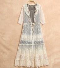 Buy Mori Girl Soft Lace Embroidery Dress Elegant Lady Loose Dress Mori Lolita Tunique Ukraine Women Dress Cardigan Faldas Boho Mori for $31.41 in AliExpress store