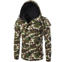 Buy New Windbreaker Camouflage Jacket Men Spring Fashion Hooded Design Mens Slim Jacket Blouson Homme Casual Military Jacket for $33.59 in AliExpress store