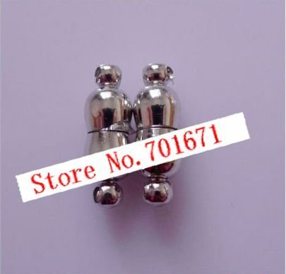 Free Shipping 6 x 18MM Magnetic Clasps, Jewelry Clasps Findings, Copper Plated Rhodium Tone, Fashion Necklace Clasps.100pcs/lot