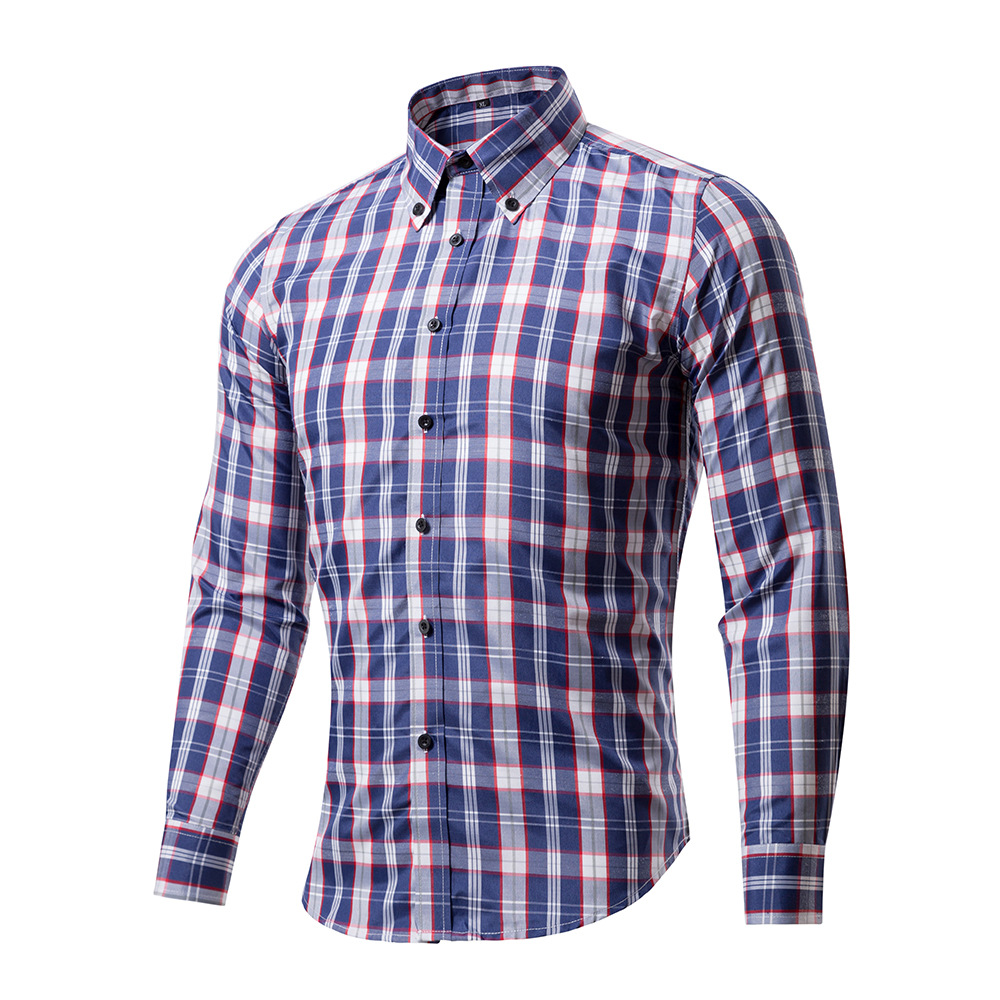 Brand long sleeve men shirts 2017 new arrival plaid slim for Latest shirts for mens 2017