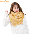 Newly Design Winter Keep Warm Large Wool Knitted Scarf Shawl For Women Men 161121 Drop Shipping