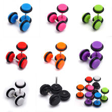 50pcs/lot Cheater Ear Plugs Gauges Tapers fashion summer style men women fake tunnels body piercing jewelry faux septum rings(China (Mainland))