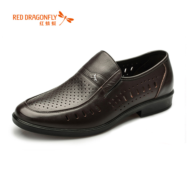 dragonfly genuine leather cutout shoes 2015 business