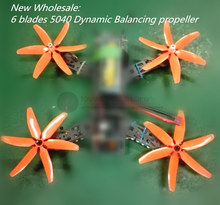 Wholesale LB 5040 propellers high-quality 5*4 inch 6 blades (CW/CCW) for DIY mini race drone wheelbase 210-280