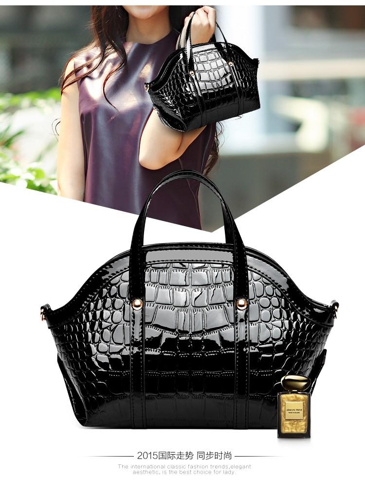 ซื้อ ผู้หญิงกระเป๋าถือกระเป๋าMessengerจระเข้แบบหนังใหม่ยุโรปAandอเมริกันแฟชั่นสไตล์