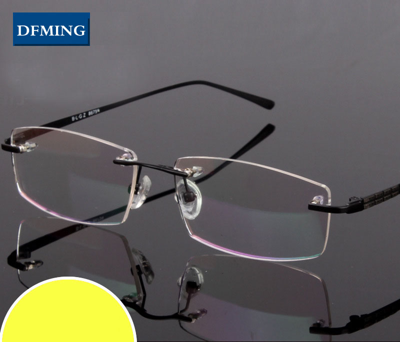 DFMING Men rimless Eyeglasses spectacle frames optical New ...