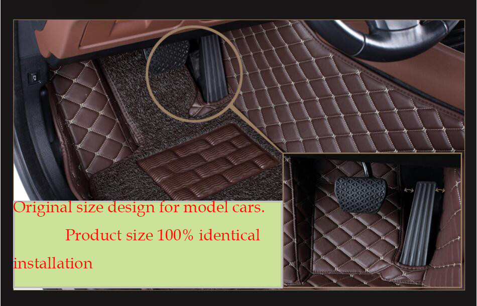 Car Floor Mats Foot Carpets Step Mat For LEXUS LX570 2016.High Quality Embroidery Style 2 Layer Mats