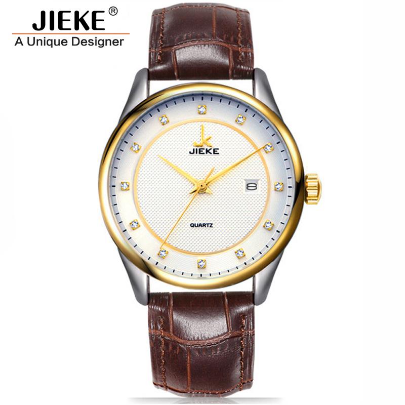 Luxury Fashion Casual Mens Watches Genuine Leather Men Clock 50m Waterproof Calendar Wrist Watches For Men Montre Orologio Uomo<br><br>Aliexpress
