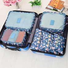 Travel admission bag luggage package travel clothing storage finishing bags cloth collection six sets(China (Mainland))