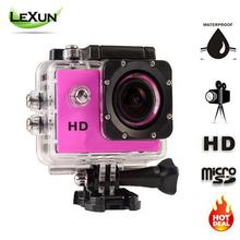 HOT HD 720P Action Digital Camera 2.0 inch Screen Photo Camera Underwater 30m waterproof Cameras Video Recorder Mini camera(China (Mainland))