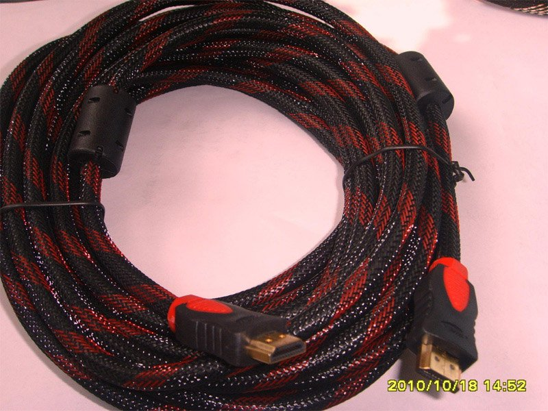 Premium 1.3 Gold 1080p HDMI to HDMI Cable  Red Net-color mode dual bead CE RHOS FCC