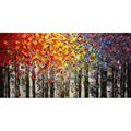 Hand Painted Landscape Modern Deciduous leaves Palette Knife thick oil painting Canvas Wall Decor Living Room