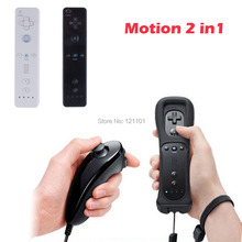 New Built in Motion Plus Remote and Nunchuck Controller for Nintendo Wii White Black
