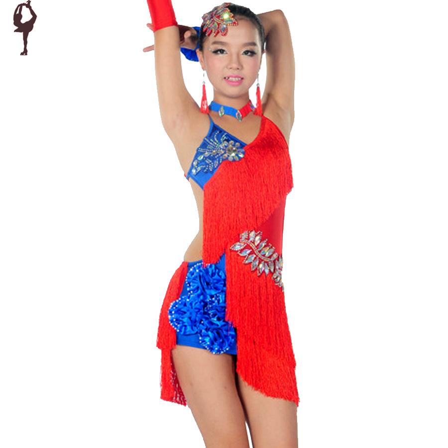 2015 latin dance dress for girls 7 colors kids dance costume cha cha rumba samba dancing - Colors for girls ...