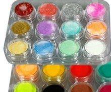 24 Colors 3D Nail Tools Art Glitter Acrylic Powder(China (Mainland))