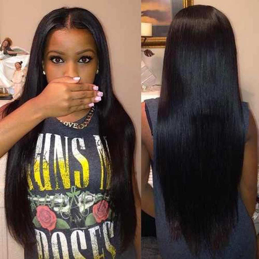 Brazilian Virgin Hair Straight 2PCS Virgin Brazilian Straight Hair 6A Unprocessed Virgin Brazilian Hair Weave Bundles Human Hair