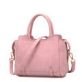 Retro Trendy Women Nubuck Leather Handbag Shoulder Bag Ladies All match Vintage Splicing Crossbody Shoulder Bag