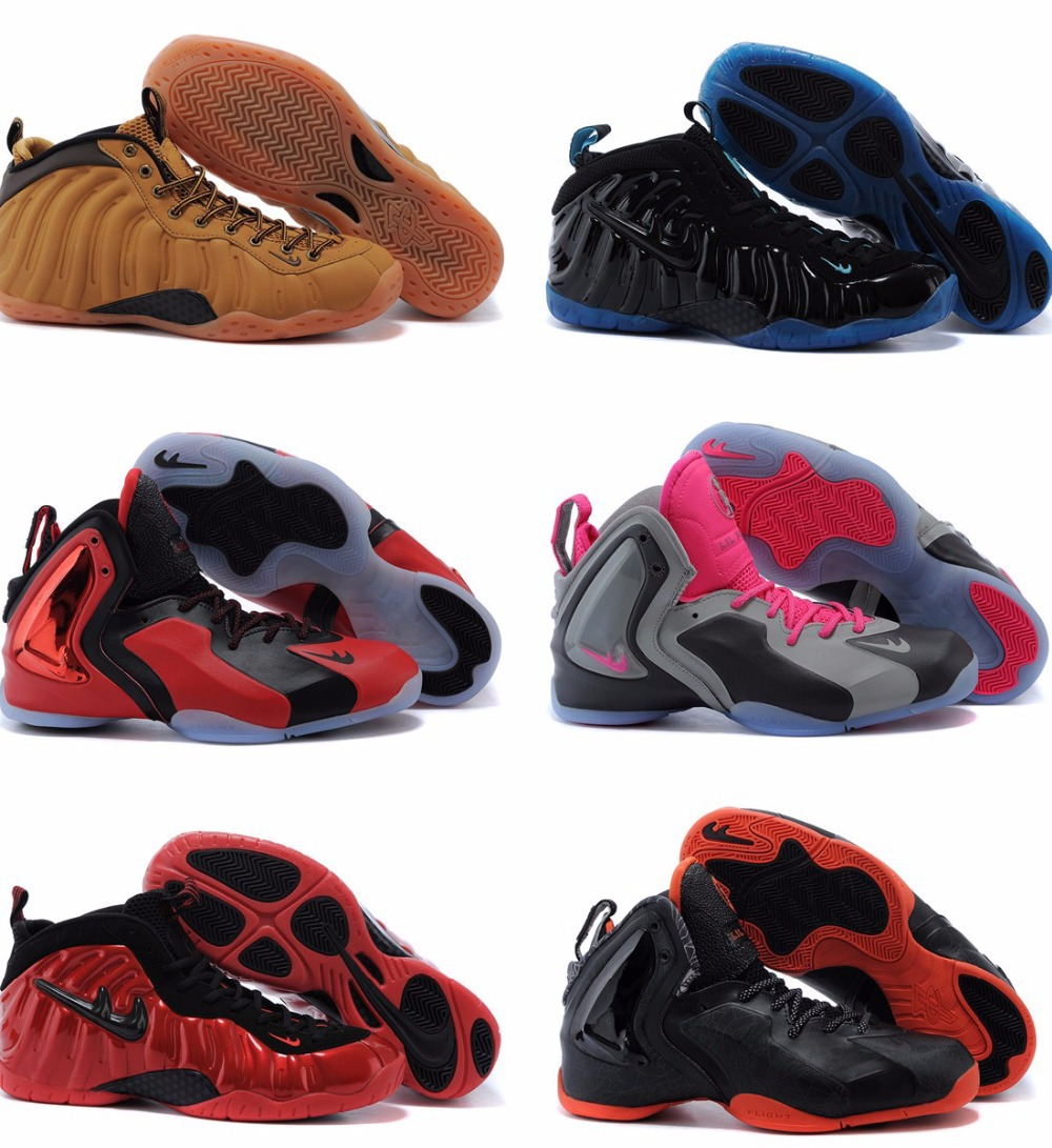 100% Best Quality 2015 New Style Airlis Foamposite One Mens Basketball Shoes Paranorman Pro Penny Hardaway SHOOTING STARS 41-47(China (Mainland))