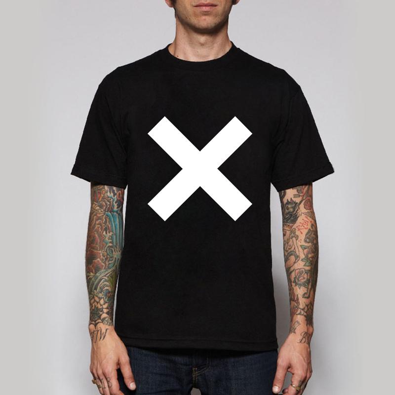 The XX Rock Band Logo Tshirts Coexist Cross Indie Crooks Alternative T-shirts Mens Retro Rock Music T Shirts(China (Mainland))