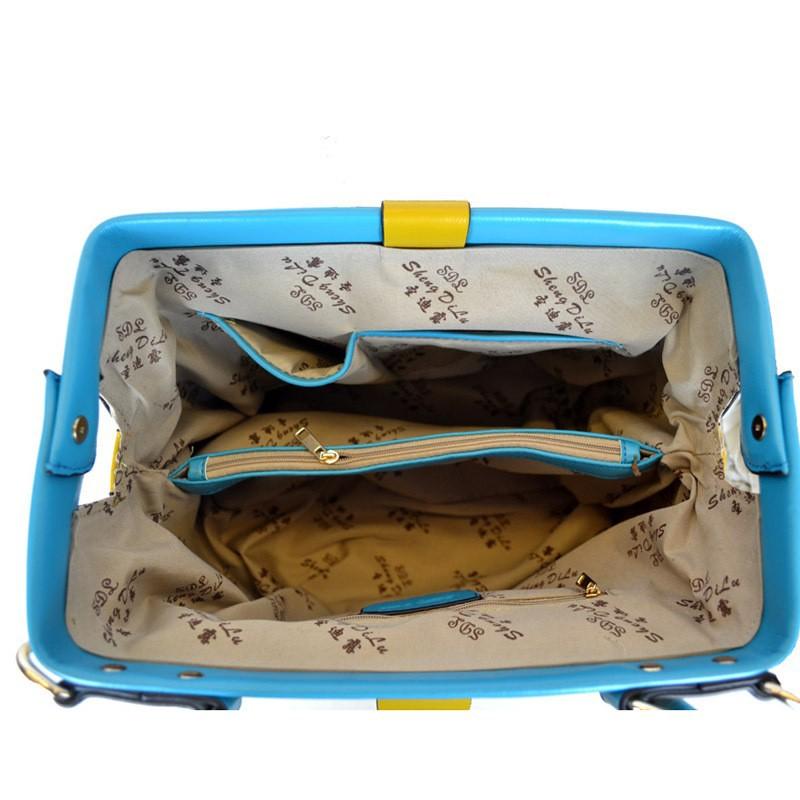[2 Colors] Genuine Leather Women Messenger Bags Women Handbag Women