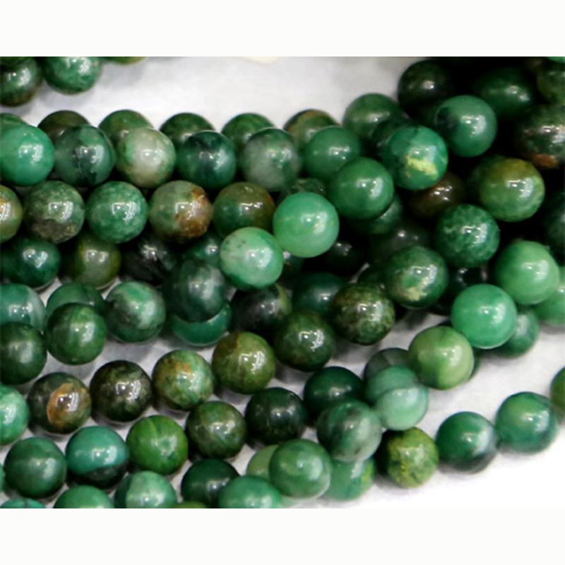 Genuine Jade Beads: Wholesale Natural Genuine Africa Green Jade Round Loose