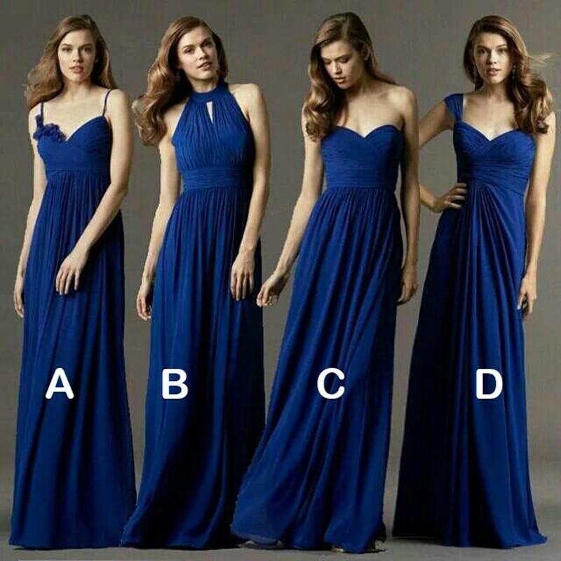 Vestidos Novia много способов одевания - линия этаж - шифон платья для подружек невесты на заказ женщина платье