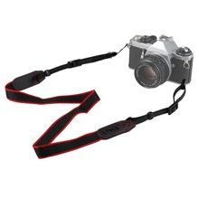 New Mirrorless Camera Shoulder Neck Belt Strap for Canon Sony Nikon Black + Red(China (Mainland))