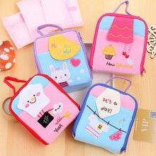 1pcs lovely Cartoon large capacity square zipper cosmetic bag Women lady Beauty Travel Makeup Case Toiletry Pouch Free shipping
