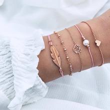 18 estilos de mezcla de corazón de tortuga de perlas de amor de cristal de mármol pulseras del encanto para las mujeres Boho borla de la joyería de la pulsera, venta al por mayor(China)