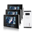 Brand New Apartment Intercom Entry 3 Monitor Wired 7 Color Touchkey Video Door Phone intercom System