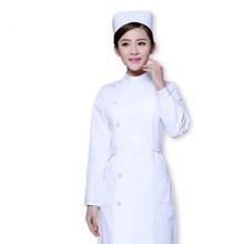 Спецодежда медицинская врачи лаборатории белое пальто хлопчатобумажная одежда униформа медсестры косметолог частичное воротник с лацкан...(China)