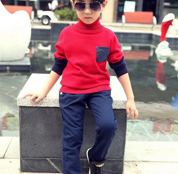 Age 4-14 Y boys pants warm spring winter children clothing Kids Pencil Trousers toddler to teenage(China (Mainland))