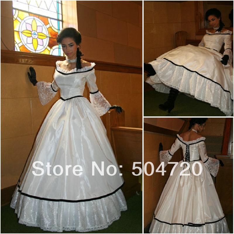 1890s Victorian Corset Gothic Civil War Southern Belle Ball Gown Dress Halloween dresses Sz US