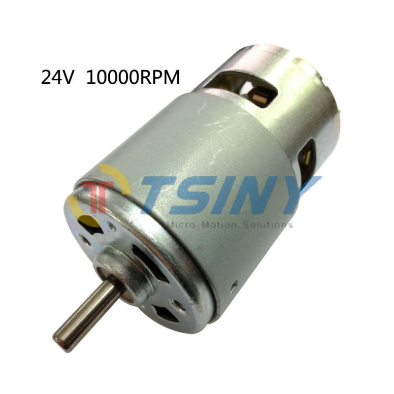 Dc motor high torque 775 24v 10000rpm electric dc brushed for High torque high speed dc motor