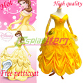 Hot selling Custom made Princess Belle cosplay costume Belle Dress movie Beauty and the Beast Costume