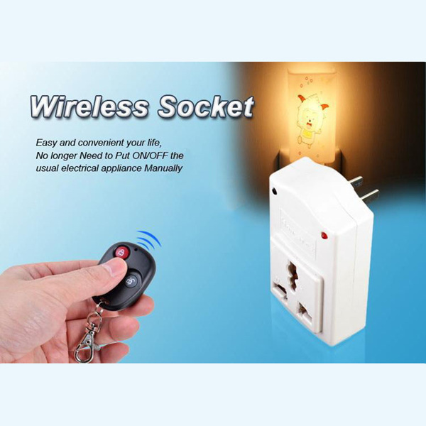 Free Shipping 2014 IR Wireless AC 220V 500W Remote Control Plug Power Switch Outlet Socket(China (Mainland))